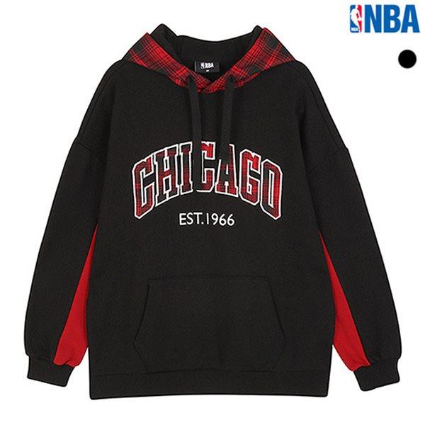 [NBA]CHI BULLS 체크배색 후드풀오버(N184TH701P)