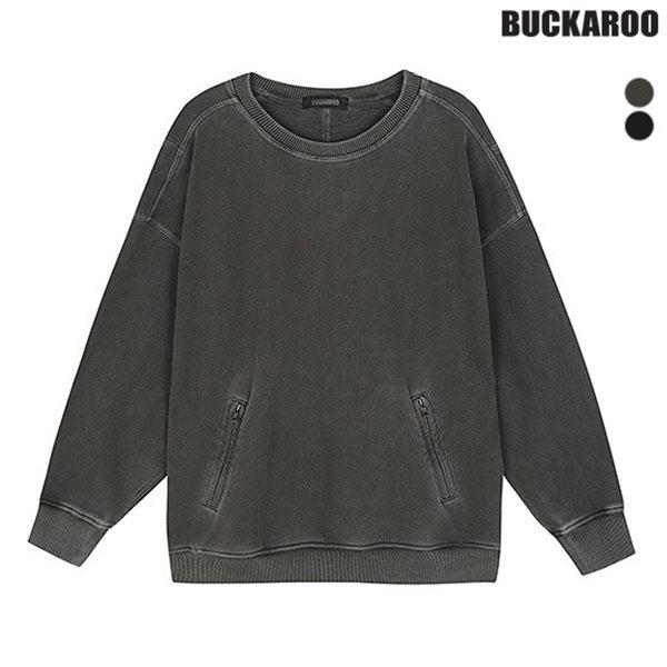 [BUCKAROO]유니 3단쭈리 루즈핏 가먼트다잉 절개 MTM(B183TS010P)