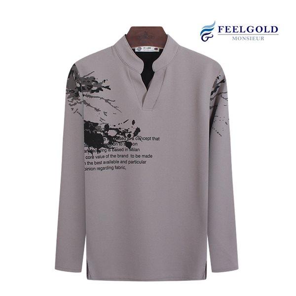 [필골드] 트리차이나 남성 스판 긴팔티셔츠 SL3023