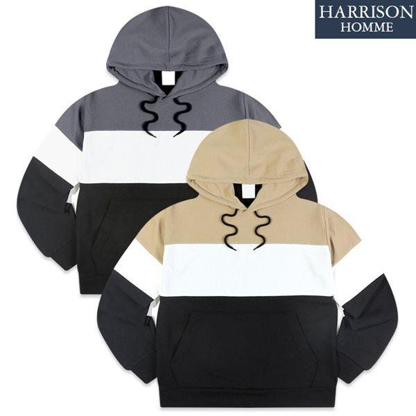 [해리슨] 2015_3색 후드 티셔츠 TOS1194