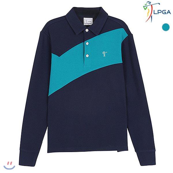[LPGA]남성 절개배색 제에리 티셔츠 (L174TS281P)