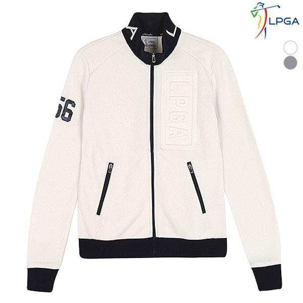 [LPGA]여성 앞가슴 엠보 집업 티셔츠(L163TJ512M)