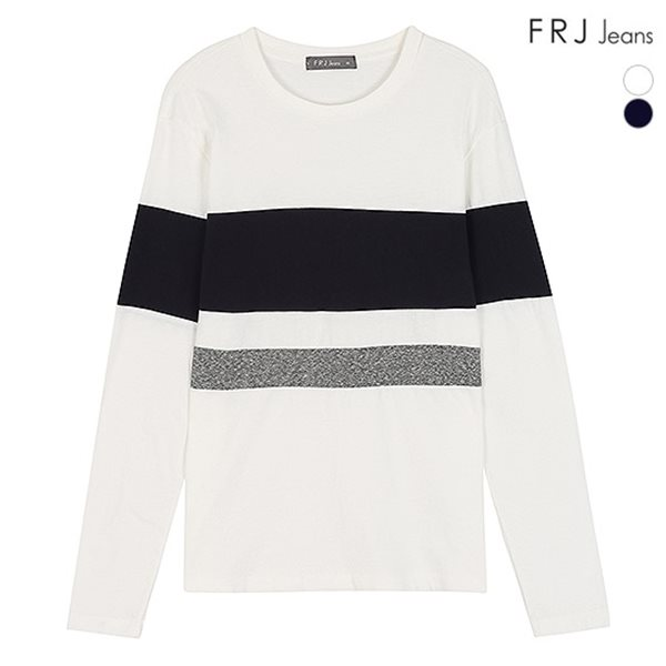 [FRJ]남성 배색절개티셔츠 (F83M-TS088S)