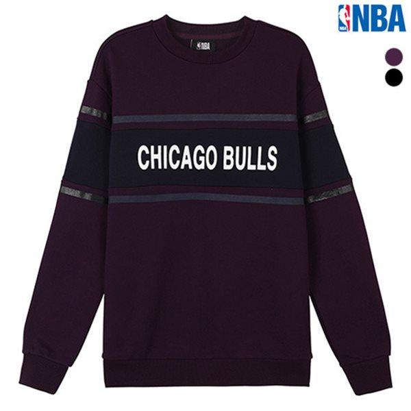 [NBA]CHI BULLS 배색 고주파 맨투맨 티셔츠(N184TS111P)