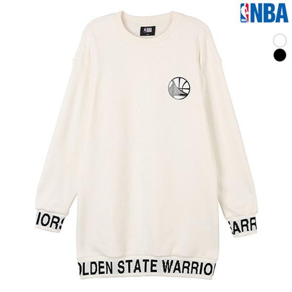 [NBA]GSW 힙기장 자카드 맨투맨 티셔츠(N184TS701P)