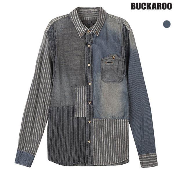 [BUCKAROO]남성 패치워크 데님셔츠(B154DS360M)