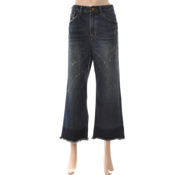 [BUCKAROO]여성 HIGH 9부 밑단포인트 와이드핏 D톤(B154DP820M)