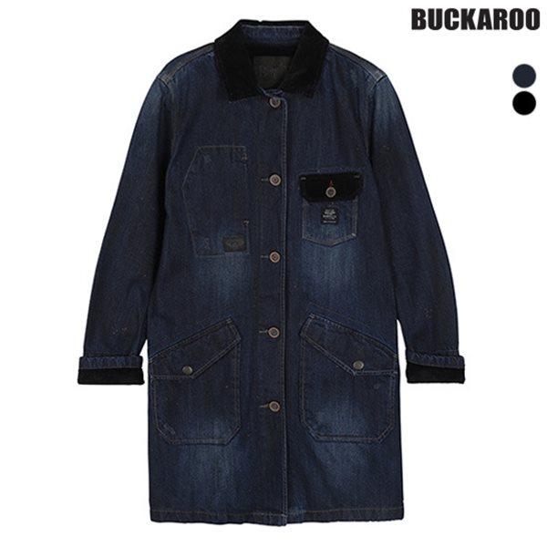 [BUCKAROO]유니 데님 코트 D톤/BK코팅(B154DJ070P)