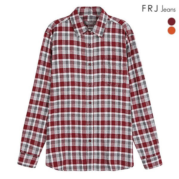 [FRJ]남성 플란넬 체크셔츠 (F84M-SH029A)
