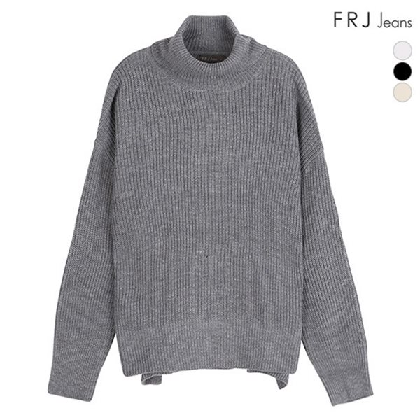 [FRJ]여성 소매 단추 니트 터틀넥 (F84F-KP519A)