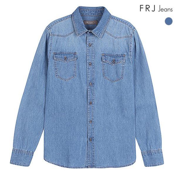 [FRJ]유니 M톤 워싱 데님 셔츠 (F83U-SH128B)