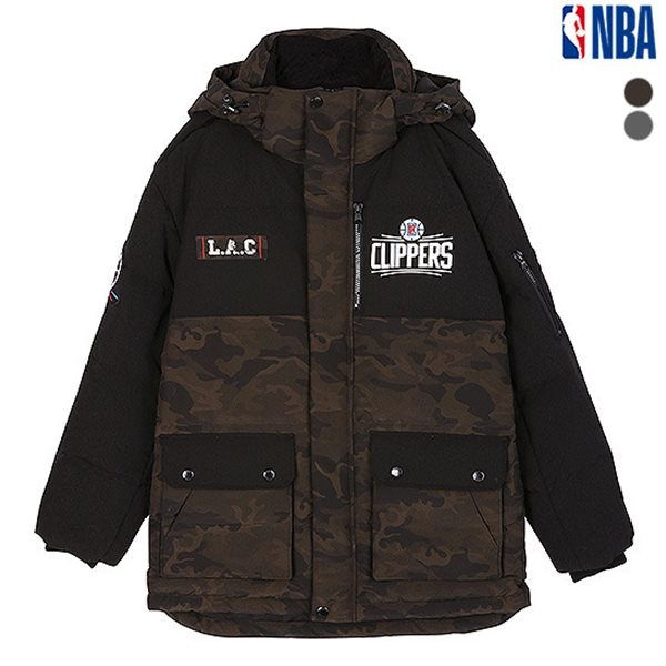 [NBA]LAC CLIPPERS 카모플라주 배색다운 점퍼(N184DW311P)