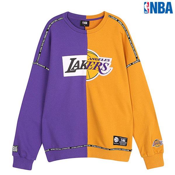[NBA]LAL 절개배색 맨투맨 티셔츠 (N183TS113P)