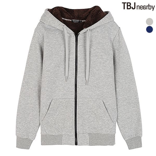 [TBJ]기획 유니 기모쭈리 보아털 후드 집업(T184Z5300P)