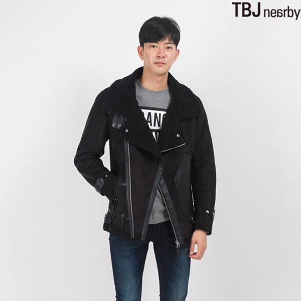 [TBJ]남성 하프기장 인조무스탕(T154LI010P)