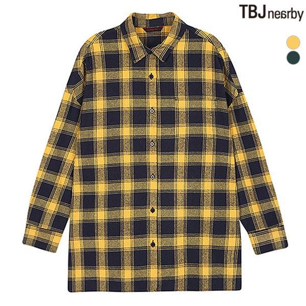 [TBJ]여성 AD 중기장 등판패치 체크 셔츠(T184SH610P)