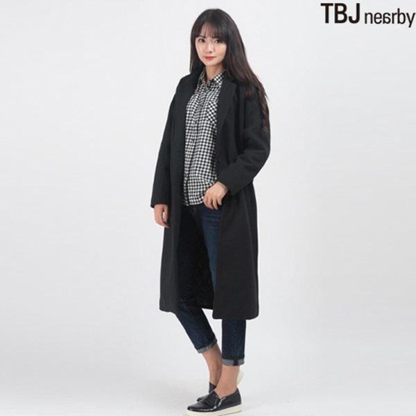 [TBJ]여성 롱기장 싱글 방모 코트(T154CT910P)