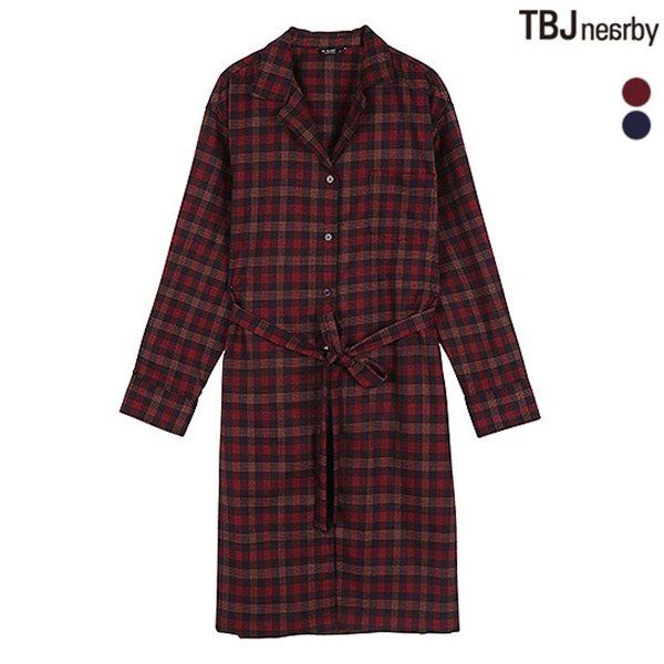 [TBJ]여성 원피스형 체크 셔츠(T184SH800P)
