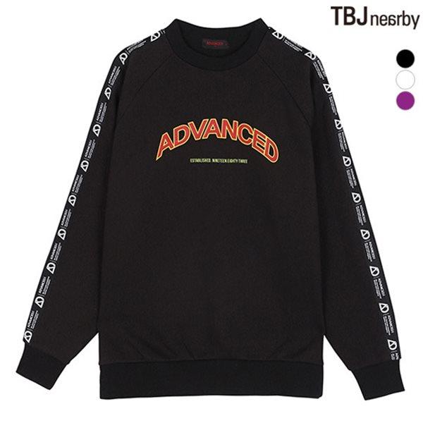 [TBJ]유니 AD 기모쭈리 소매TAPE 맨투맨(T184TS110P)
