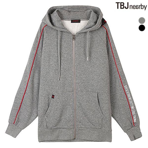 [TBJ]유니 AD 기모쭈리 소매파이핑 후드집업(T184TJ490P)
