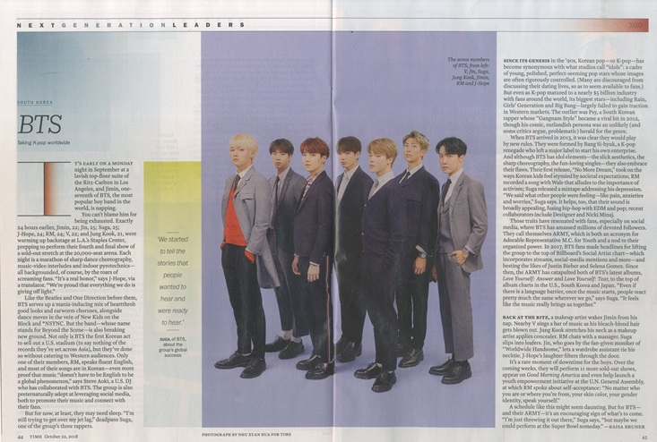 TIME Asia Ed  - BTS Cover (22/10/2018) + Poster