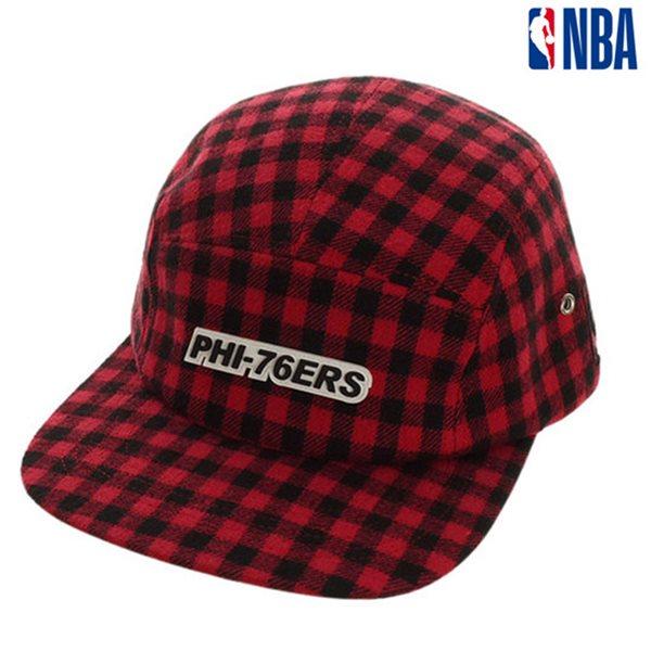 [NBA]PHI 76ERS 체크 CAMP CAP(N185AP143P)