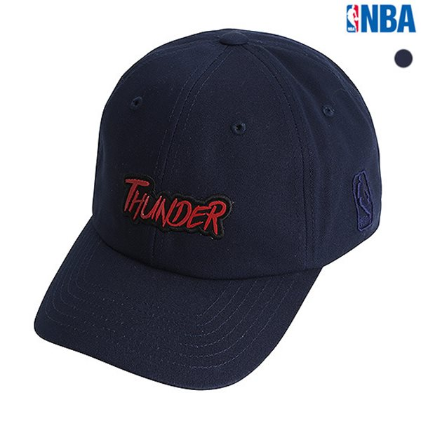 [NBA]OKC THUNDER 와펜장식 SOFT CURVED CAP(N185AP223P)
