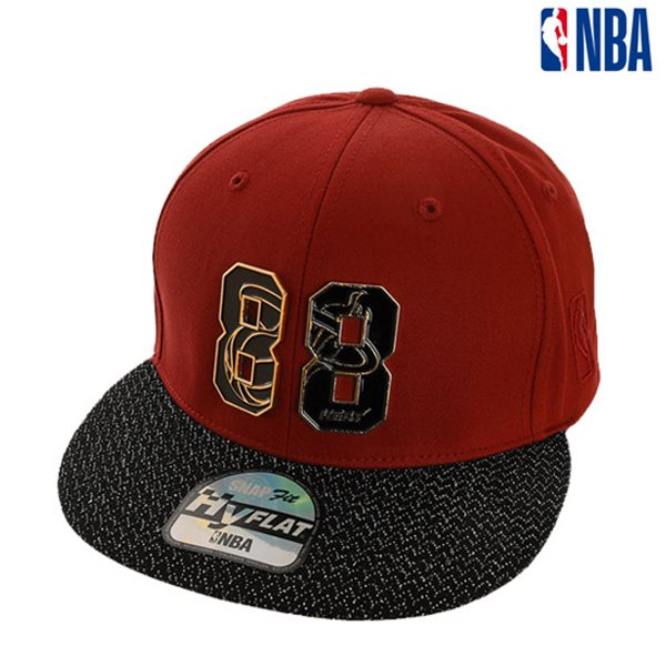 [NBA]MIA HEAT 숫자로고장식 배색 HYFLAT CAP(N185AP644P)