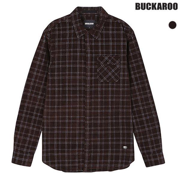 [BUCKAROO]남성 코듀로이 체크패턴 셔츠(B184SH360P)