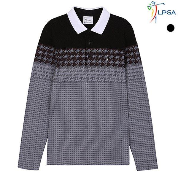 [LPGA]남성 지도리 변형패턴 요꼬 티셔츠(L174TS232P)