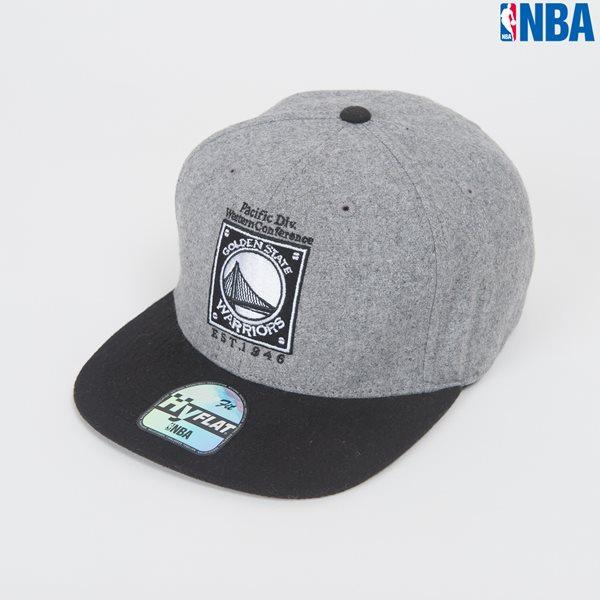 [NBA]GS WORRIORS 사각박스자수 HYFLAT FIT CAP (N164AP281P)
