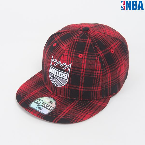 [NBA]SAC KINGS 체크 HYFLAT CAP (N164AP285P)