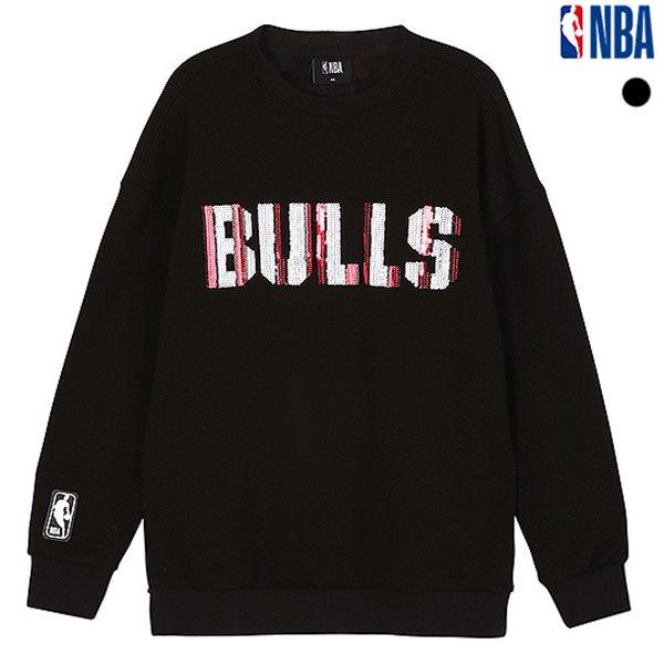 [NBA]CHI BULLS 스팽글 포인트 루즈핏 맨투맨(N183TS701P)