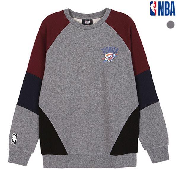 [NBA]OKC THUNDER 소매 밑단 블록 맨투맨 티셔츠(N183TS112P)