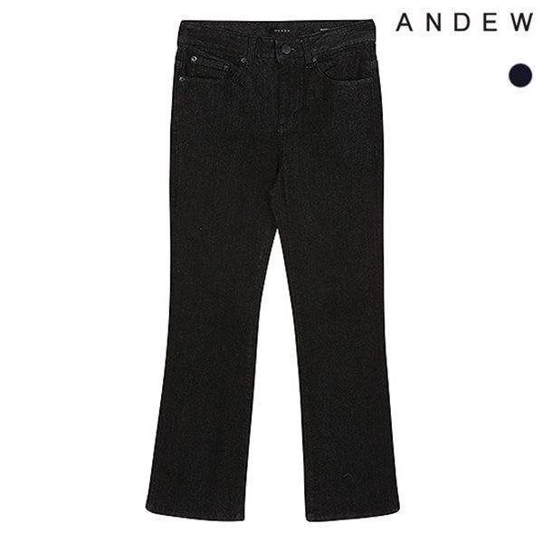[ANDEW]여성 세미부츠 블랙 데님(O184DP500P)