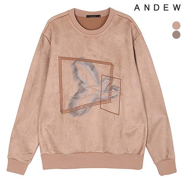 [ANDEW]남성 스웨이드 아트웍맨투맨TS(O184TS180P)
