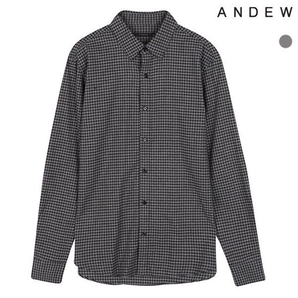 [ANDEW]남성 레귤러 기본카라 스몰체크 셔츠(O184SH140P)