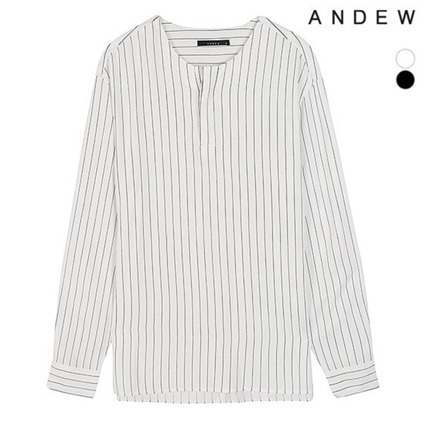 [ANDEW]남성 칼라리스 스트라이프 풀오버 셔츠(O184SH300P)