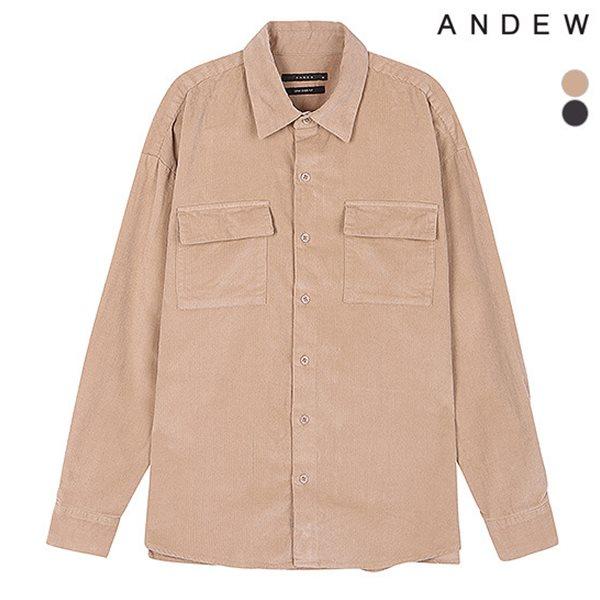 [ANDEW]남성 세미오버 기본카라 코듀로이 셔츠(O184SH110P)