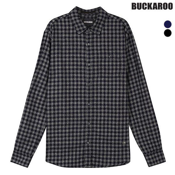 [BUCKAROO]남성 일본원단 멜란 체크 셔츠(B184SH380P)