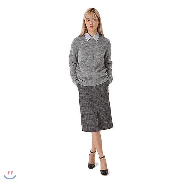 [ANDEW]여성 TR 체크물 스커트 (O184SK500P)