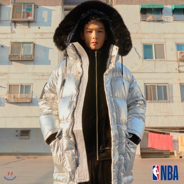 [NBA]GSW WARRIORS 오버핏 유 롱다운 점퍼(N184DW313P)
