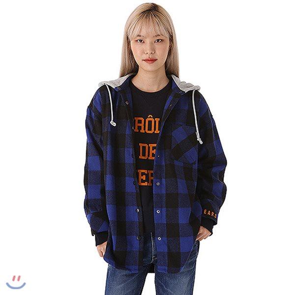 [TBJ]여성 후드 셔켓형 체크 셔츠(T184SH710P)