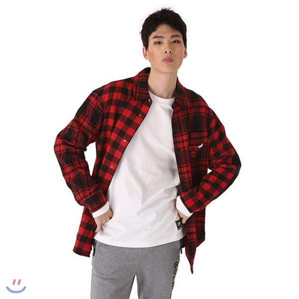 [NBA]CHI BULLS 체크믹스반전셔츠(N183SH211P)