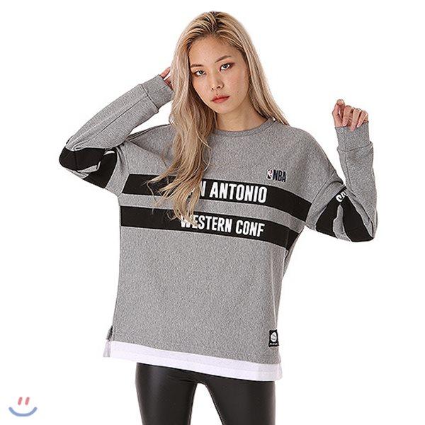 [NBA]SAS SPURS POLY 배색 맨투맨 티셔츠(N183TS114P)
