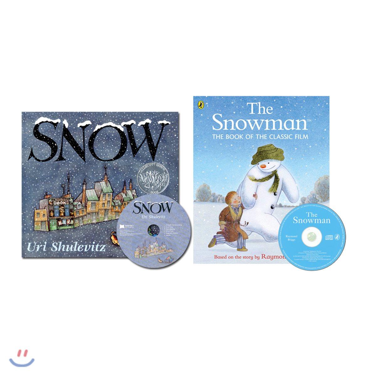 겨울 베스트 노부영 그림책 2종 세트 (노부영 Snow & 베오영 Snowman) (Book & CD)