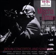 Mischa Elman 미샤 엘만 협주곡, 소나타 명연집 (Mischa Elman - Violin Concertos And Sonatas) [10CD Boxset]