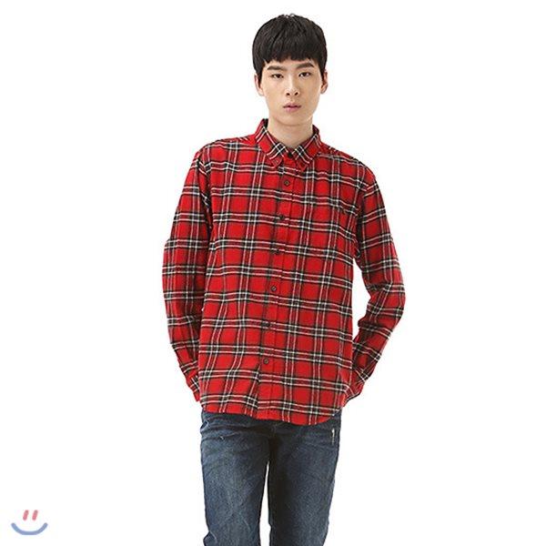 [TBJ]유니 제기장 기본핏 체크 셔츠(T184SH300P)