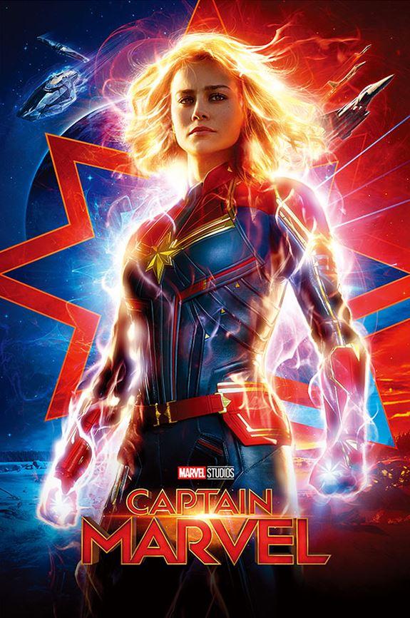 캡틴 마블 포스터 컬렉션<Br>초판한정 캡틴 마블 홀로그림 포스터 증정