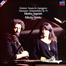 Martha Argerich / Mischa Maisky 슈베르트: 아르페지오네 소나타 - 미샤 마이스키, 마르타 아르헤리치 (Schubert : Sonata for Arpeggione) [LP]